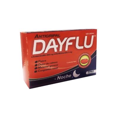 acetaminofen + clorfeniramina dayflu noche 500 mg/2mg