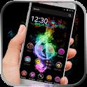 Neon theme for samsung phone icon