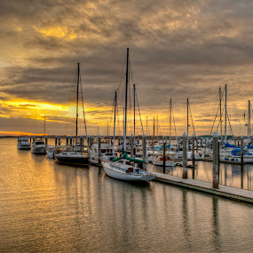 The Marina by John Wollwerth - Landscapes Waterscapes ( www.wollwerthimagery.com, waterscape, sunset, landscape, wollwerth )