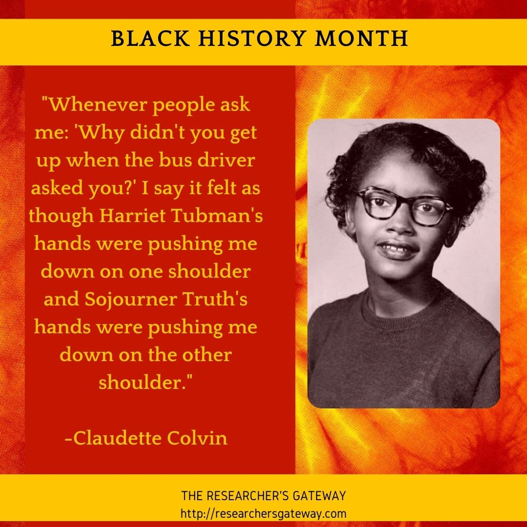 Claudette Colvin Quote on Why she chose to resist.