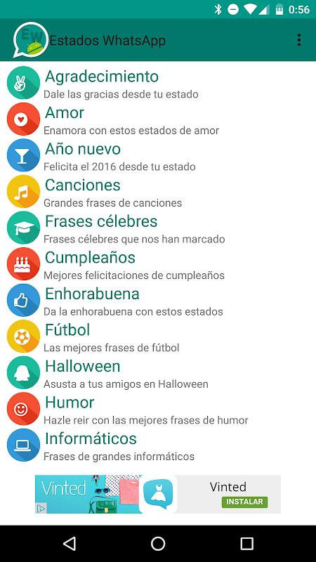 Estados WhatsApp APK 2 0 Download - Free Entertainment APK