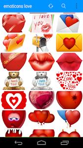 Emoticons Cute Love screenshot 2