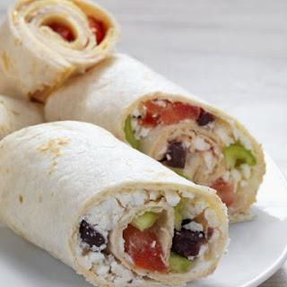 Healthy Greek Styled Wraps.