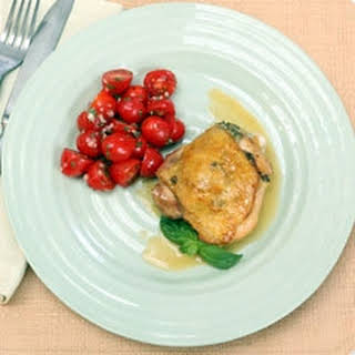 Roasted Olive Chicken Thighs.