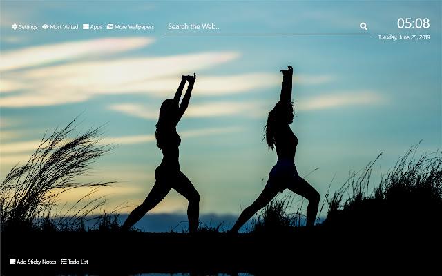 Aerobics Wallpaper HD New Tab Theme
