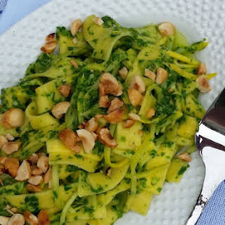 Arugula Pesto with Hazelnuts.