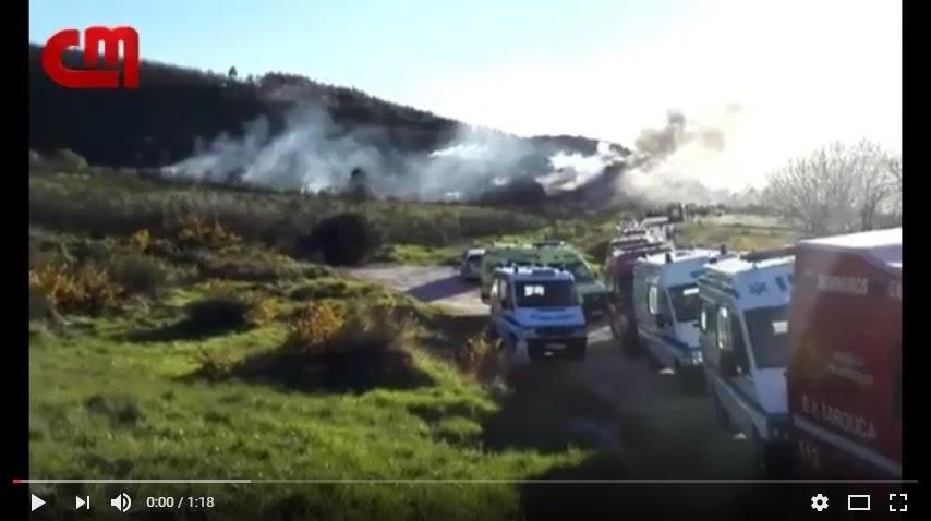 Primeiro vídeo das explosões em pirotecnia em Lamego