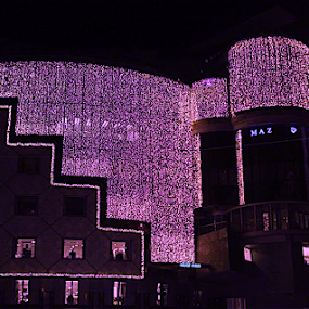 Vienna 2014 by Ray Anthony Di Greco - Buildings & Architecture Architectural Detail ( digital art, architecture, city, breast cancer awareness, pink, lighting, lights, mood factory, hot pink, mood, scents, color, mood-lites, sassy, brighten our world )