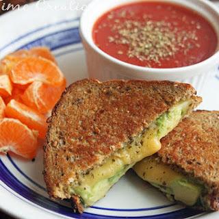 Gouda Avacado Pesto Grilled Cheese.