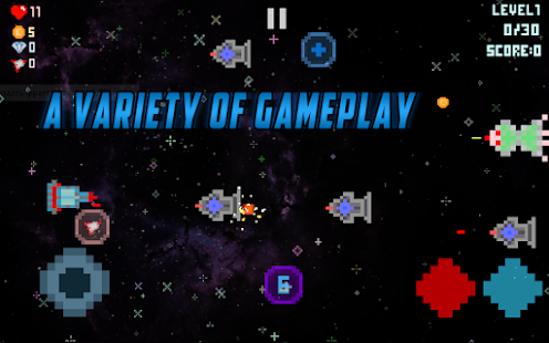 Ships Action in Space - 2D Game - náhled