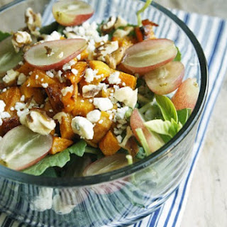 Grape, Roasted Squash and Blue Cheese Salad