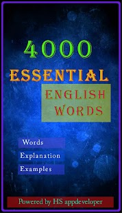 Essential English Words- screenshot thumbnail