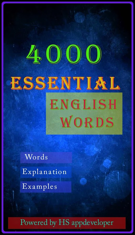 Essential English Words- screenshot