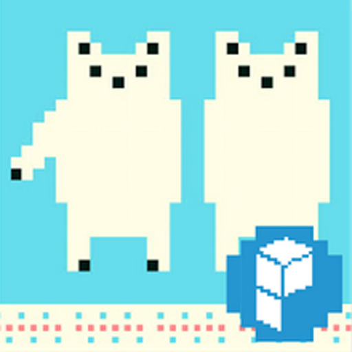Pixel Art - Polar Bear Theme LOGO-APP點子