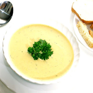 Creamy Potato Soup With Horseradish And Smoked Trout