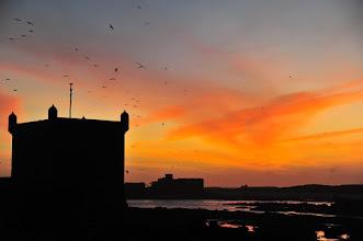 Photo: ESSAOUIRA - Coucher de soleil sur le vieux fort.