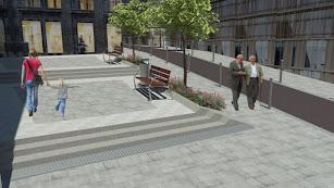 Diseño de la peatonalización en calle Trajano