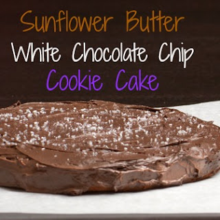 Sunflower Butter White Chocolate Chip Cookie Cake