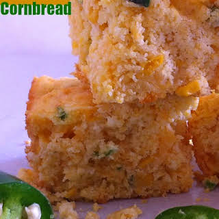 Shortcut Jalapeno and Cheese Corn Bread Using Jiffy Mix.