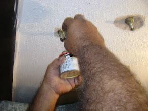 Photo: A tinta é só pra marcar a chapa de ferro