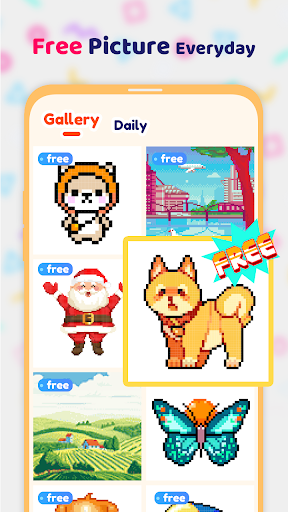 Pix123 - Color by Number, Pixel Art Relaxing Paint 2.2.6.4 screenshots 4
