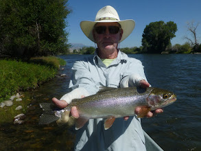 Photo: Dave Trego on the Madison River Trip 2016