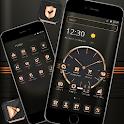 Black Golden Brown Luxury Watch Theme ⌚ icon
