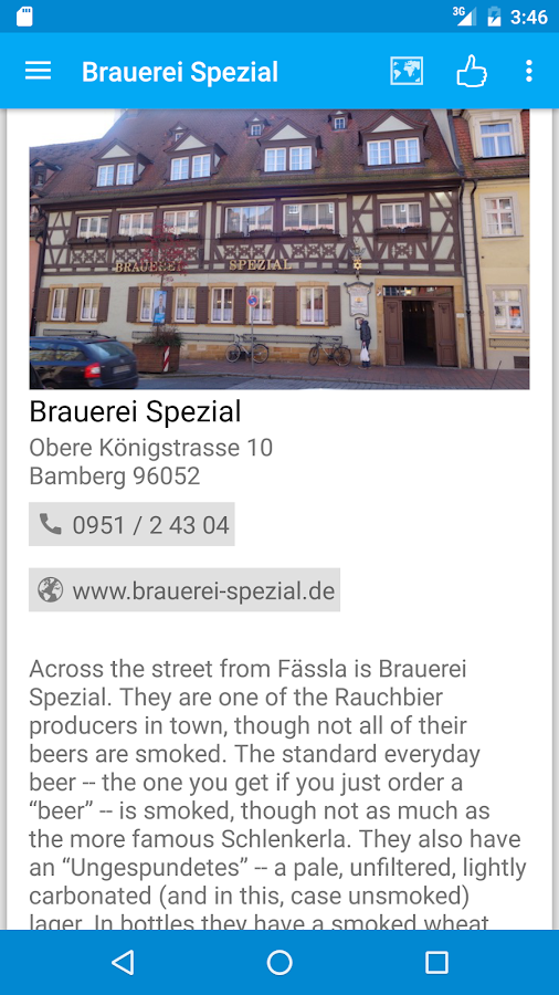 Bamberg Beer Guide- screenshot