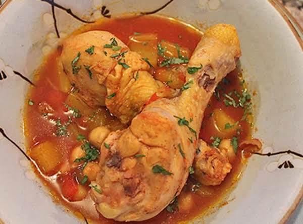 Sudado De Muslo Y Garbanzos Recipe