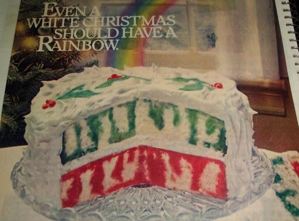 Christmas Rainbow  Jell-o Poke Cake..Recipe 1980