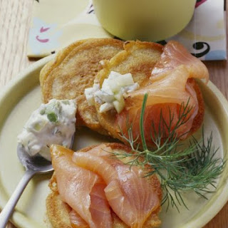 Smoked Salmon and Buckwheat Blini