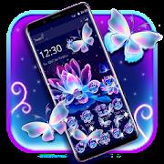 Neon Butterfly Lotus Glitter Theme
