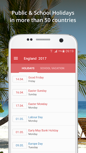 holidays and vacations screenshot 1