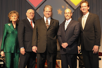 Photo: Leaders from Tarrant County College, Arlington ISD, City of Arlington, UT Arlington and Arlington Ministerial Assocation at banquet.