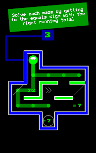 Numplussed - Number Puzzle Maze- screenshot thumbnail