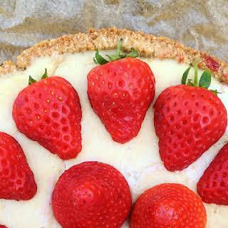 Vegan Strawberry Vanilla Cheesecake.