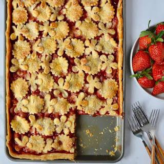 Simple Strawberry Slab Pie.