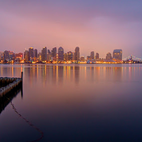 by Christopher Payne - Landscapes Waterscapes ( water, bay, ocean, night, city )