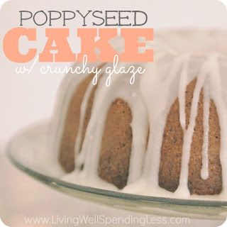 Poppyseed Cake with Crunchy Glaze.
