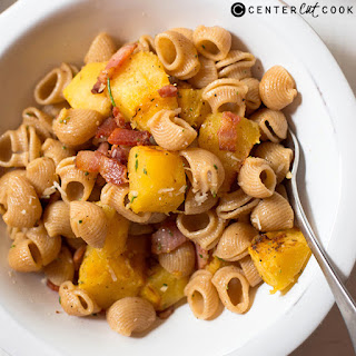 Pasta with Acorn Squash and Bacon.