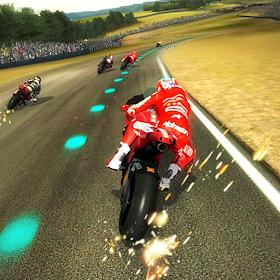 Гонка движения мотоциклов (3D)