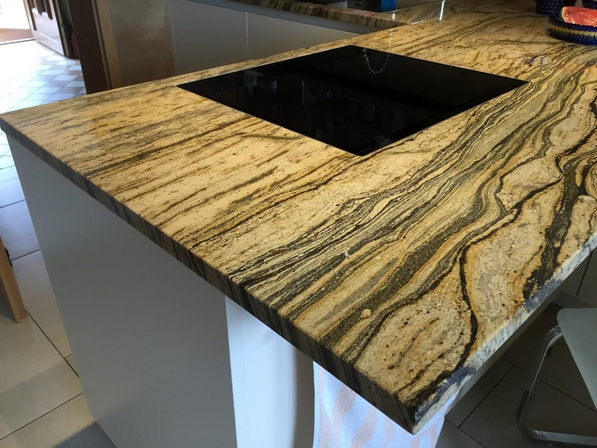 Küchenarbeitsplatte Arbeitsplatte Kücheninsel Küche Naturstein ...