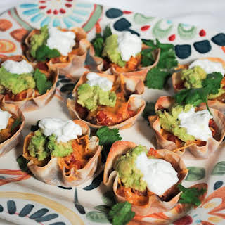 Mexican Bean and Salsa Wonton Cup Appetizers.