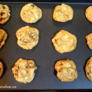Maple Walnut White Chocolate Cookies.