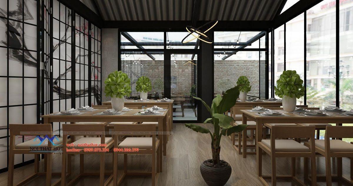thiết kế nhà hàng thông thoáng