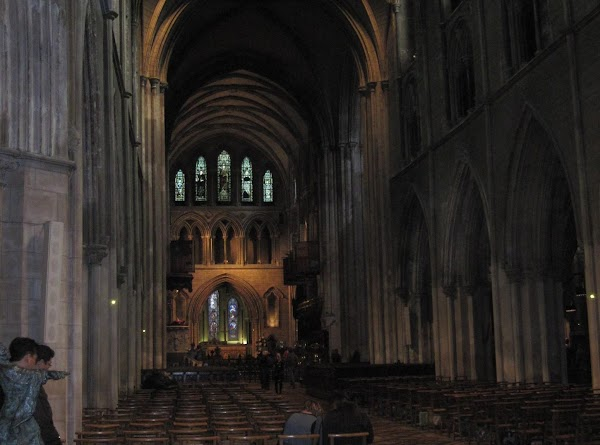 looking from the back of the Cathedral