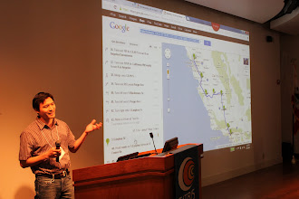 Photo: Ken from LBL explains about how to get from Berkeley to LA in a Leaf... the charging stations are not optimally located but you'll get there!