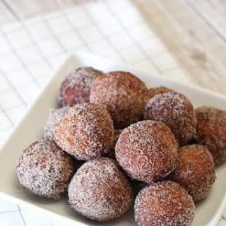 Gluten Free Vegan Cinnamon Sugar Donut Holes.
