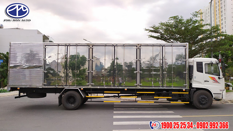 thùng xe tải dongfeng 8t thùng kín