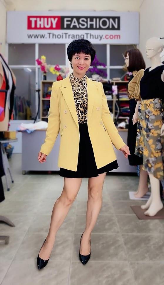 Áo vest nữ mix đồ áo sơ mi và chân váy xòe V730 thời trang thủy đà nẵng